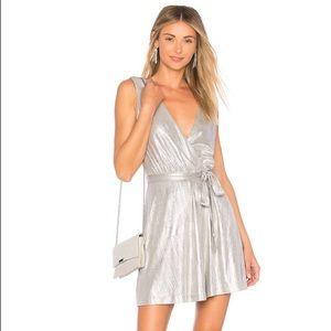 BB Dakota/ REVOLVE metallic silver dress.